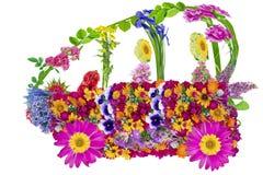 Blumenbioautokonzept Stockbild