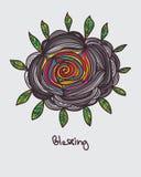 Blumenblatt, das normales buntes Innere segnet Lizenzfreie Stockbilder