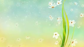 Blumenblattflattern lizenzfreie abbildung
