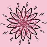 Blumenblattmuster lizenzfreie abbildung