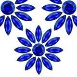 Blumenblauedelsteine Lizenzfreies Stockfoto