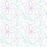 Blumenbleistift-Entwurfmuster Stock Abbildung