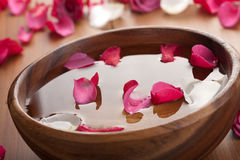 Blumenblätter in der Schüssel Stockbild