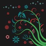 Blumenblumenelementvektor Stockbild