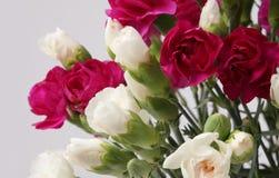 Blumenblumenstrauß auf Grau Lizenzfreie Stockbilder