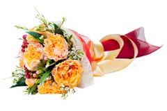 Blumenblumenstrauß getrennt auf weißem Hintergrund Stockfoto