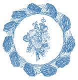 Blumenblumenstrauß Schablonen Vecter-Element stock abbildung