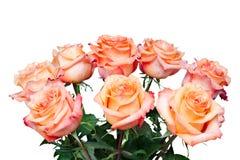 Blumenblumenstrauß von den Rosen getrennt auf Weiß Lizenzfreies Stockbild