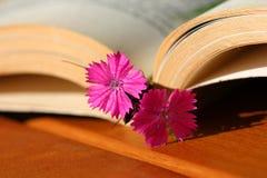 Blumenbookmark Lizenzfreie Stockfotos