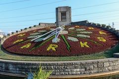 Blumenborduhr in Niagara Falls, Ontario Kanada Stockbilder