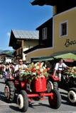 Blumencorso en Kirchberg en el Tirol Foto de archivo