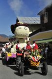 Blumencorso en Kirchberg en el Tirol Fotografía de archivo libre de regalías