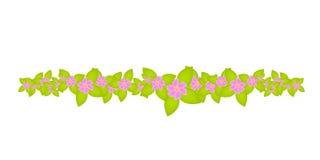 Blumendekorationverzierungrand Lizenzfreie Stockbilder