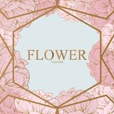 Blumendesign und -logo Stockbild