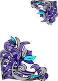 Blumeneckenauslegungen Stockbild
