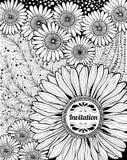 Blumeneinladung Lizenzfreies Stockbild