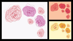 Blumeneinladungen eingestellt Lizenzfreie Stockbilder