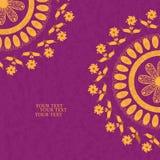 Blumeneinladungskarte, Illustration Lizenzfreies Stockbild