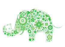 Blumenelefant stock abbildung