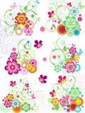 Blumenelemente lizenzfreie abbildung
