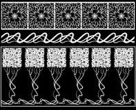 Blumenelemente und Ränder. Stockbilder