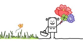 Blumenernte lizenzfreie abbildung