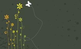 Blumenfahne vektor abbildung