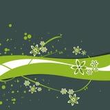 Blumenfahne Stockfotografie