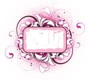 Blumenfahne Lizenzfreie Stockfotos