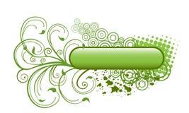 Blumenfahne. Stockfoto