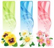 Blumenfahne stock abbildung