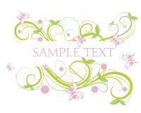 Blumenfahne Lizenzfreies Stockbild