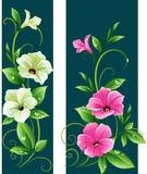 Blumenfahnen lizenzfreie abbildung