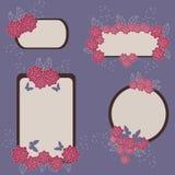 Blumenfahnen Stockfotos