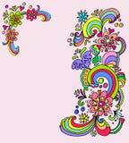 Blumenfahnen Lizenzfreie Stockfotos