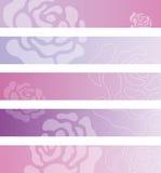 Blumenfahnenhintergründe Stockbild