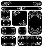 Blumenfahnenset Stockfotografie