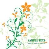 Blumenfahnenvektor Lizenzfreie Stockfotografie