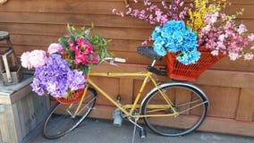 Blumenfahrrad Lizenzfreies Stockfoto