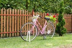 Blumenfahrrad Stockfoto