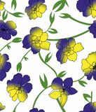 Blumenfarbdesignmuster Lizenzfreie Stockfotografie