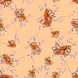 Blumenfarbdesignmuster Lizenzfreie Stockbilder