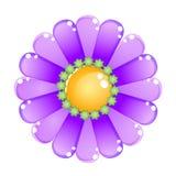 Blumenfarbpurpurrote glatte Geleeikone Stockfotografie