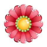 Blumenfarbrote glatte Geleeikone Stockbilder