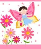 Blumenfee Stockfoto