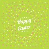 Glückliche glückliche Frühlingskarte Ostern Stockfoto