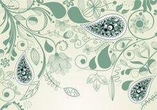 Blumenfeld mit Paisley Lizenzfreies Stockbild