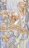 Blumenfliesen Lizenzfreie Stockbilder