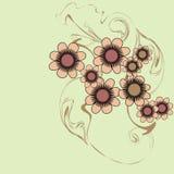 Blumenflugblatt Stockfotos