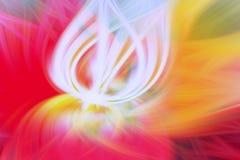 Blumenfractalhintergrund-Vorsprungskunst futuristisch stock abbildung